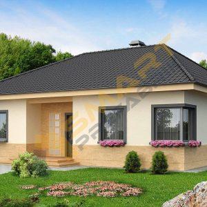 110 m2 metrekare çelik ev modeli planı 3d hafif çelik evler