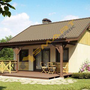65 m2 çelik ev planı