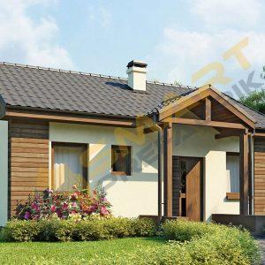 85 m2 çelik ev planı dış görünüm