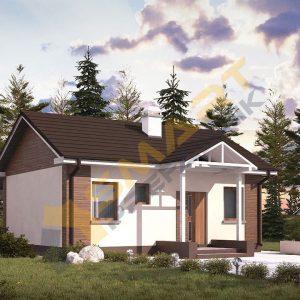 52 m2 çelik ev planı dış görünüm
