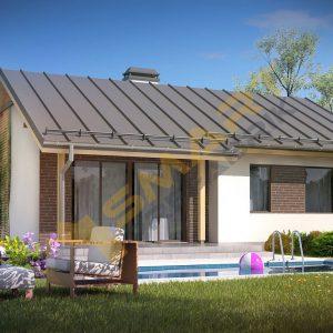 66 m2 çelik ev planı