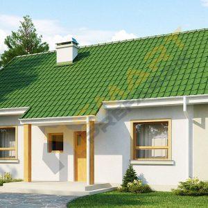 69,7 m2 çelik ev planı görünüm