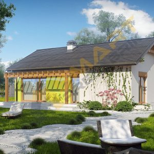 77 metrekare çelik ev modeli planı 3d hafif çelik evler