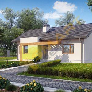77 m2 çelik ev planı