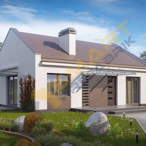78 metrekare çelik ev modeli planı 3d hafif çelik evler