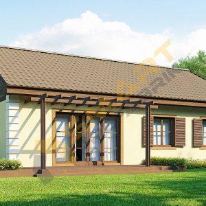 96 metrekare çelik ev modeli planı 3d hafif çelik evler