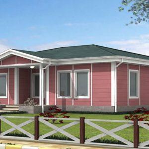 110 metrekare çelik ev modeli planı 3d