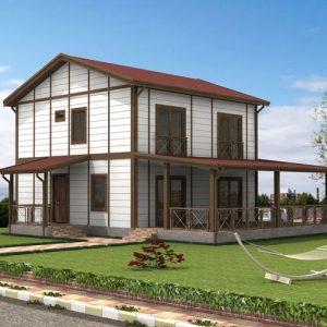 Ankara 160 m2 Ankara Çelik Ev, Çelik Villa, Prefabrik Ev Fiyatları