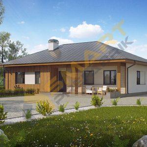 110 metrekare çelik ev modeli planı 3d hafif çelik evler