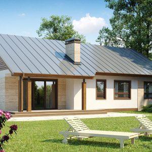 121 m2 çelik ev planı model