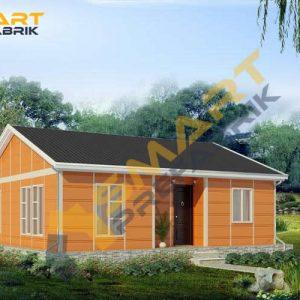 90 metrekare çelik ev modeli planı 3d