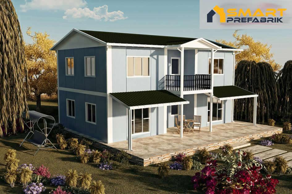 158 m2 cift katli prefabrik ev